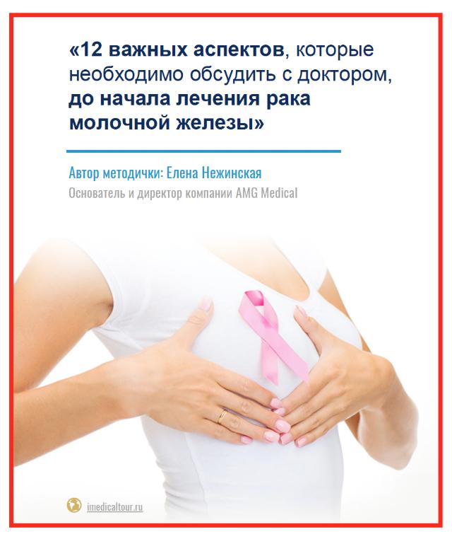 «12 важных аспектов, которые необходимо обсудить с доктором, до начала лечения рака молочной железы»
